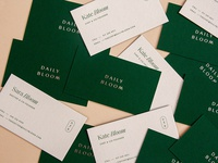 Daily Bloom Business Cards