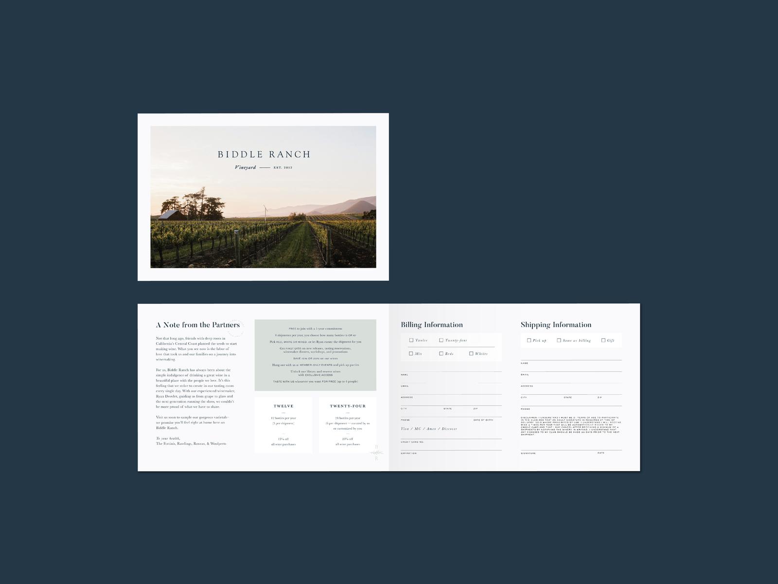 Biddle Ranch Wine Club By M Plus Studio On Dribbble