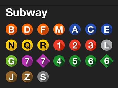 NYC Subway Lines with Long Shadows nyc subway long shadow