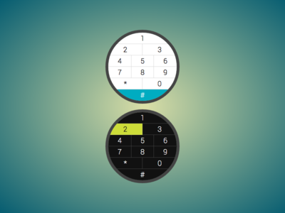 Keypads for a circular interface keypad round interface watch dial