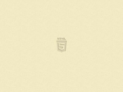 HTML5 embossed logo chrisnager2012 html5