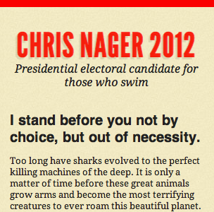Chris Nager for President 2012 @320px width chrisnager2012 html5 css3 media queries responsive design