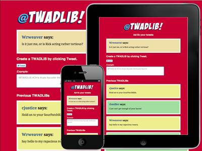 @TWADLIB! twadlib css3 html5 javascript web app responsive design