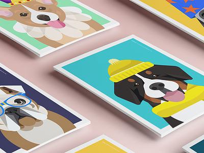 Woof Wear clothing illustration dog