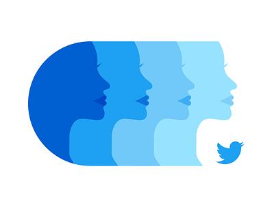 She Inspires Me silhouette illustration art director design women empowerment woman illustration feminism female womens history month women she inspires me twitter