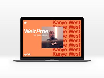 Twitter Spark speaker presentation deck branding welcome kanye speaker presentation typography spark twitter