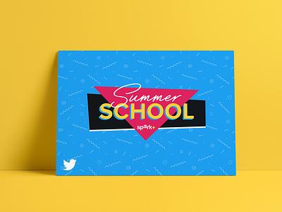 Spark Summer School Poster logo 90s pattern poster summer school spark twitter