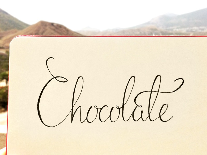 Chocolate lettering hand lettering sketch chocolate