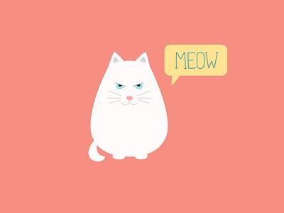 Meow illustration cat flat meow