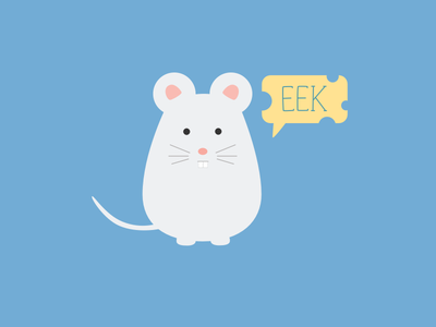 Eek flat illustration mouse eek