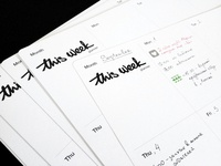 This Week, planner