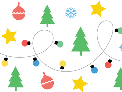 Christmas card (part) christmas flat pattern