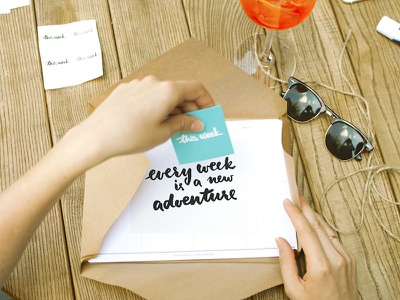 Every week is a new adventure this week planner typography printed planner hand lettering lettering