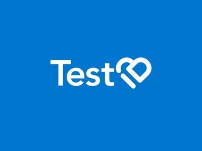 Logo for TestID app web app icon covid19 graphic design typography branding minimalism line art logo