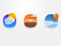 Three icons~