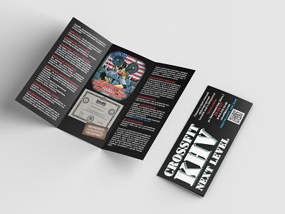 Рекламный буклет CrossFit цифровая печать print дизайн логотипа дизайн буклет печать полиграфия