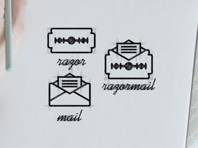 razormail logo design