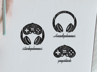 stickphones logo design