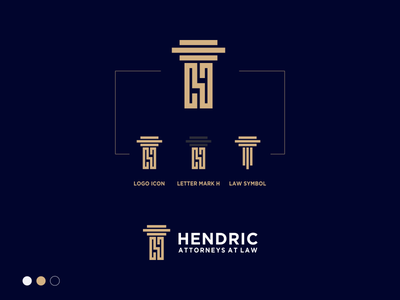 HENDRIC ATTORNEYS AT LAW business card logo process premium logo gold letter h logo letter h law firm logo law logo law branding brand logo