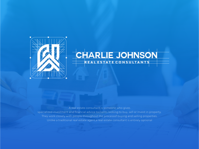 CHARLIE JOHNSON logo branding home real estate inspiration designs awesome branding design design dribbble inspirations brand branding logo