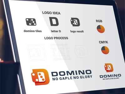 letter D and Domino tiles logo combination domino inspiration designs awesome branding design design dribbble inspirations brand branding logo