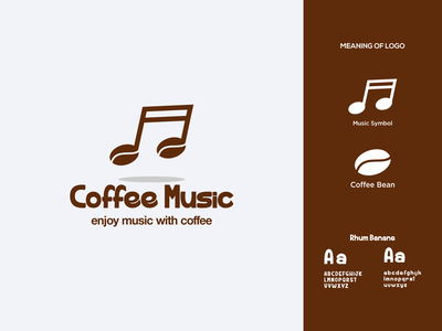 Coffee Music Logo grafast design not music music logo music coffee logo coffee web design mobile animation print typogaphy product design illustration brand branding logo
