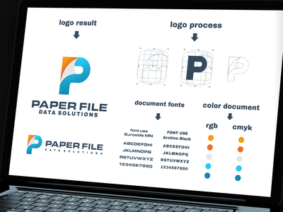 paper file data solution logo branding inspiration designs awesome branding design design dribbble inspirations brand branding logo