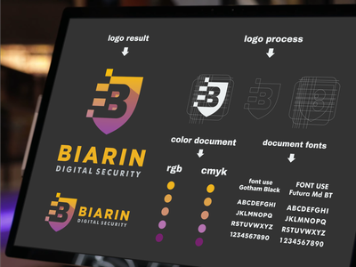 biarin digital security logo branding art forsale inspiration designs awesome branding design design dribbble inspirations brand branding logo