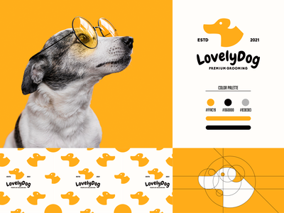 Lovely Dog Logo grafast design cute dog animal logo logo designer design vector puppy logo puppy dog logo dog animal brand branding logo