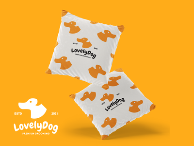 Lovely Dog Branding grafast design puppy animal animal logo pillow mockup pet logo pet care dog logo dog brand design branding design vector branding logo