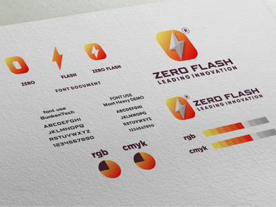 zero flash logo project zero flash volt inspiration designs awesome branding design design dribbble inspirations brand branding logo