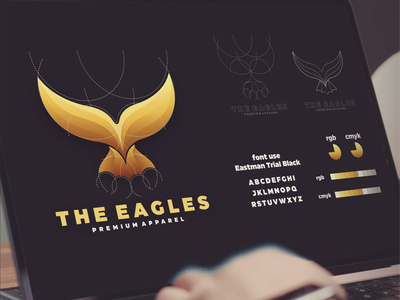 the eagles logo branding outfit apparel eagle inspiration designs awesome branding design design dribbble inspirations brand branding logo