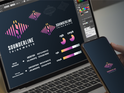 sounderline logo project music sound inspiration designs awesome branding design design dribbble inspirations brand branding logo