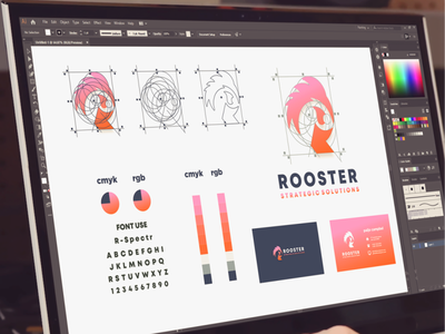 rooster and initials R logo project inspiration designs awesome branding design design dribbble inspirations brand branding logo