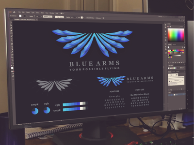 blue arms logo project eagle wings arms inspiration designs awesome branding design design dribbble inspirations brand branding logo