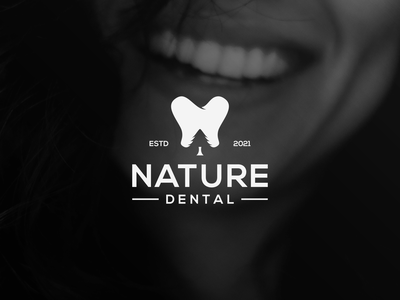 Nature Dental Logo tooth logo tooth grafast design logo designer tree logo tree nature logo nature dental logo dental vector brand branding logo