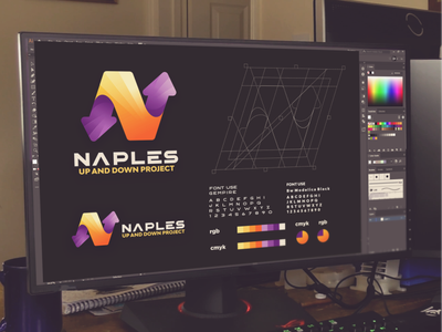 naples up and down project letter n inspiration designs awesome branding design design dribbble inspirations brand branding logo