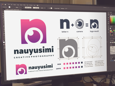 Letter n and camera logo project photograpy camera photo vector ui illustration branding design inspirations dribbble design brand branding logo