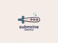 Submarine Sword logo design