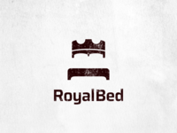 Royal bed logo design