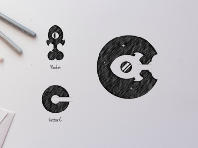 C ROCKET logo design