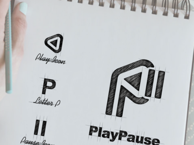 Play Pause logo mark