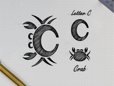 C crab logo combination