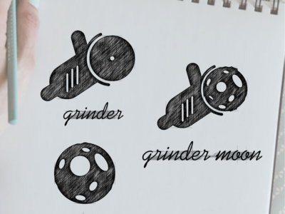 grinder moon logo design