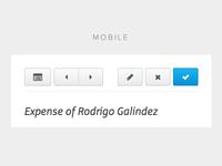 Responsive toolbar