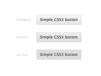 Simple CSS3 button