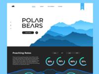 Dribbble Debut! (Polar Bears)