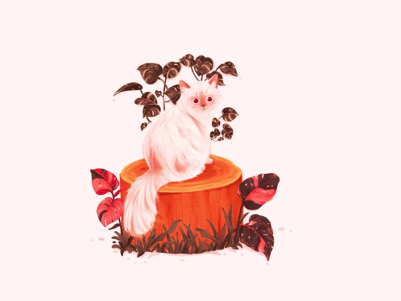cats woodplanty animal illustration digital art digital illustration cats illustration