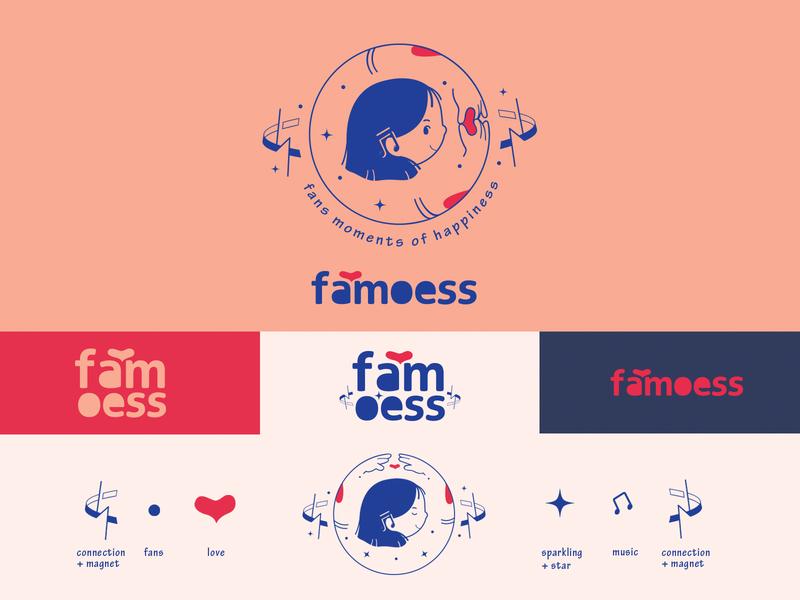 famoess logo flat minimal illustration brand kpop logodesign logo
