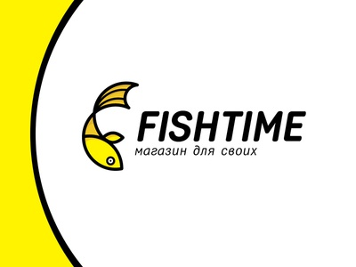 Fishtime logo development logo design logotype branding vector logo design linear
